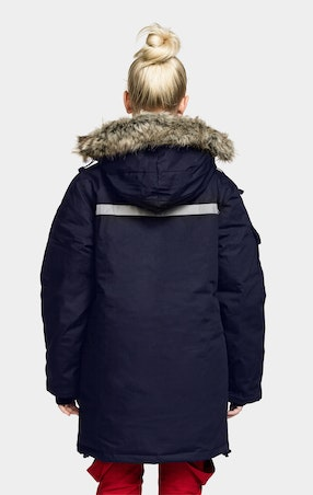 Parkas Expedition Gåsedun Jente Navy - omgående levering
