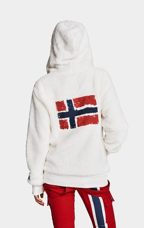 Fleece Flag Off White